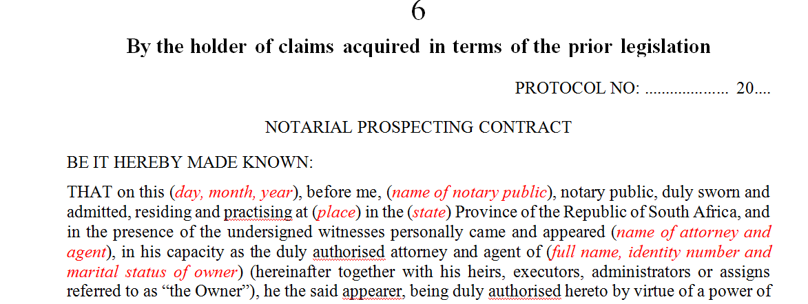 By the holder of claims acquired in terms of the prior legislation