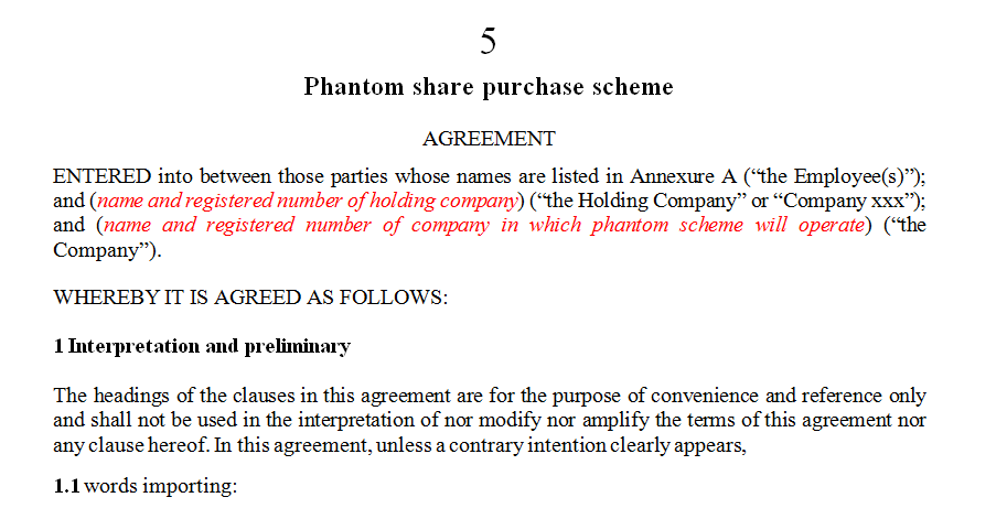 Phantom share purchase scheme