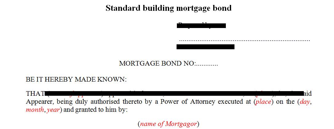 Standard building mortgage bond